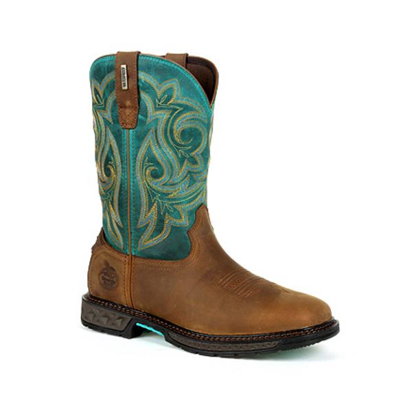 Georgia Boot Carbo-Tec LT Women's Steel Toe Waterproof Pull-On Boot GB00386 BROWN