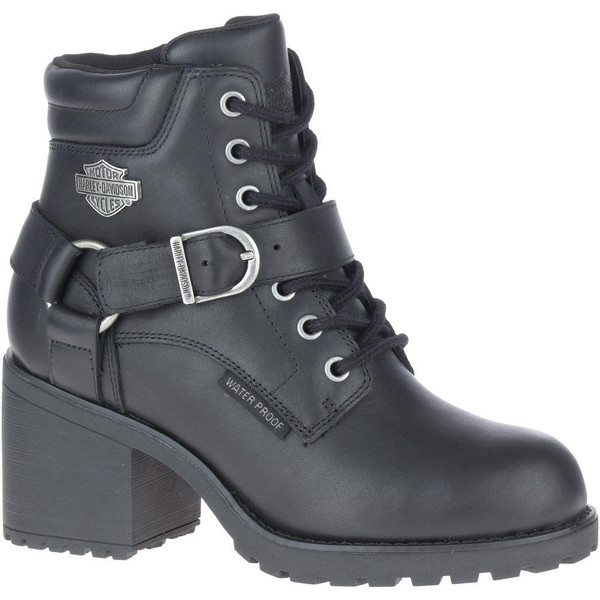 """Harley Davidson Ladies Footwear Howell 5"""" Lace D84664 Black"""