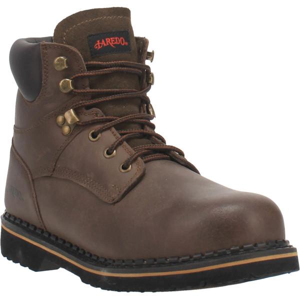 "Laredo Boots Mens 66144 6"" HUB & TACK-SOFT TOE"