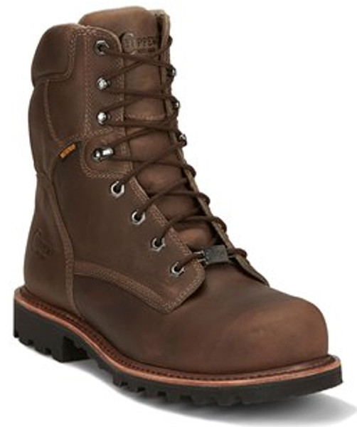 "Chippewa Mens Boots 73206 8"" BOLVILLE FOSSIL"