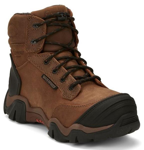 "Chippewa Ladies Boots L50003 6"" CROSS TERRAIN BROWN W/P NANO COMP TOE"
