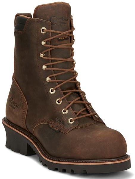 """Chippewa Mens Boots 73238 8"""" VALDOR CRAZY HORSE"""