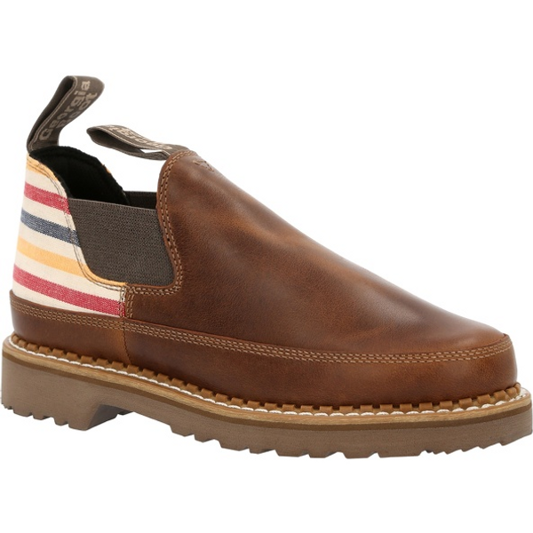 Georgia Boot Women's Brown and Stripe Romeo Shoe GB00459 BROWN