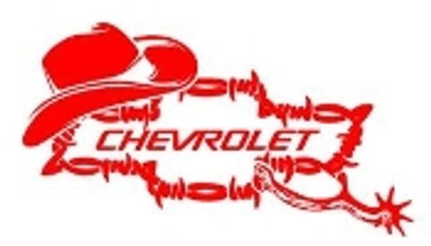 Chevy Bowtie Hat & Spurs Sticker