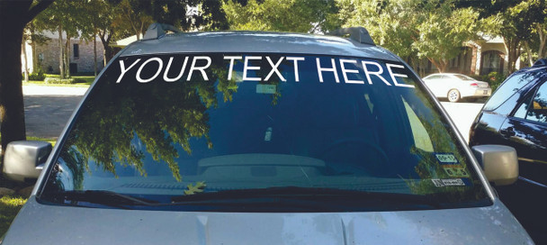 Windshield Banner Sticker