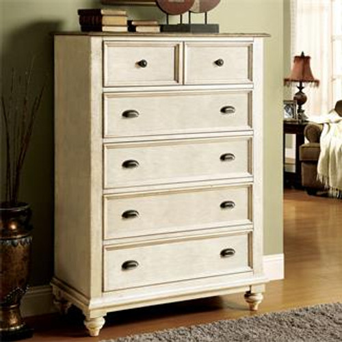 Constructed of hardwood solid and Ash veneer Drawers have dovetail joinery and ballbearing extension guides Bottom drawer has a Cedar veneer bottom, all others are felt-lined Dust panel under bottom drawer Tip restraining hardware