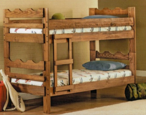 Twin Over Twin Bunk Bed w/ Ladder02