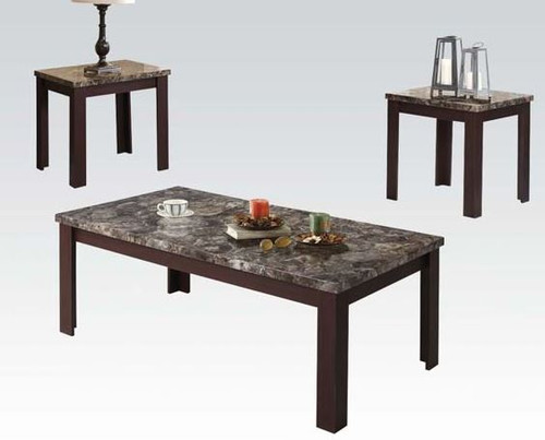 Carly III Faux Marble Top