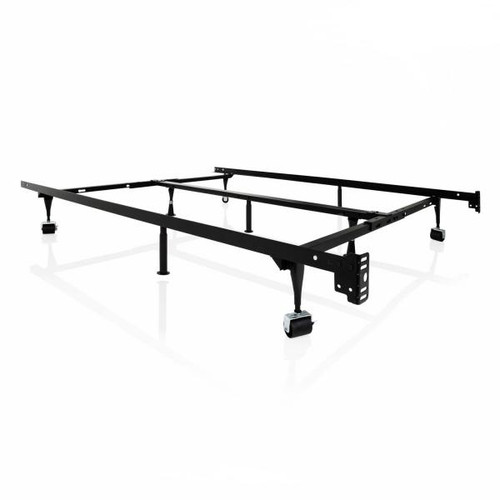 Adjustable Queen/Full/Twin Bed Frame W/Rug Rollers