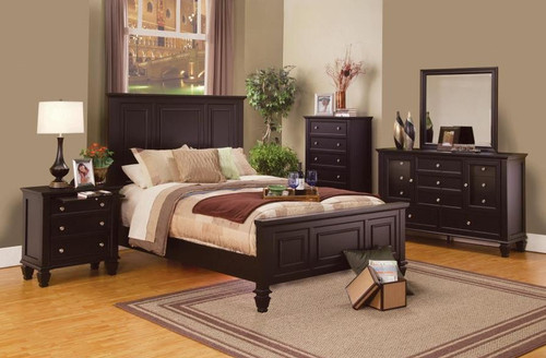 Sandy Beach Bedroom Collection in Cappuccino