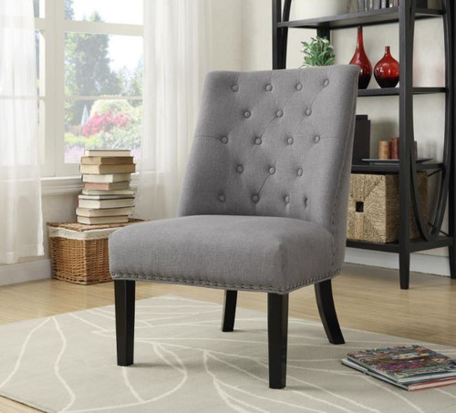 Button Tufted Accent Chair