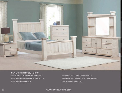 A&H Wood Working New England Mansion Queen Bedroom Set