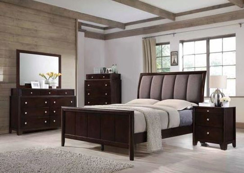 Dark Merlot Bedroom Set