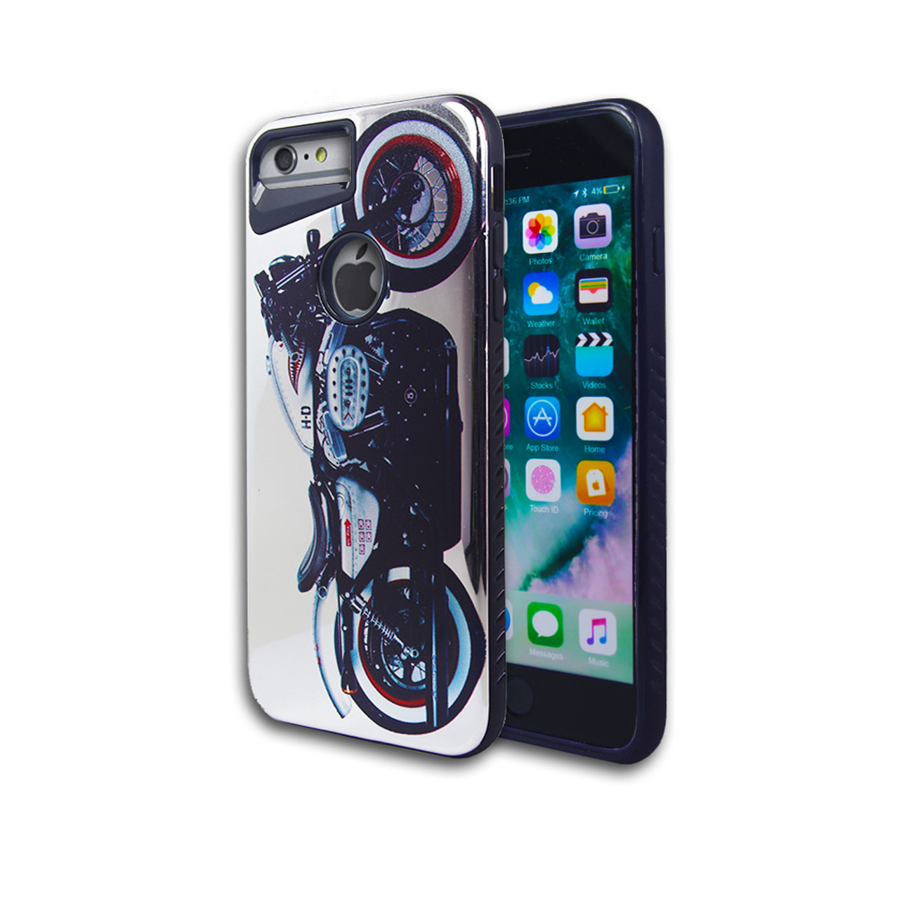 sports shoes 18e3a b9557 Design Chrome Hybrid Case for iPhone 7/8 Plus Harley Motorcycle Design