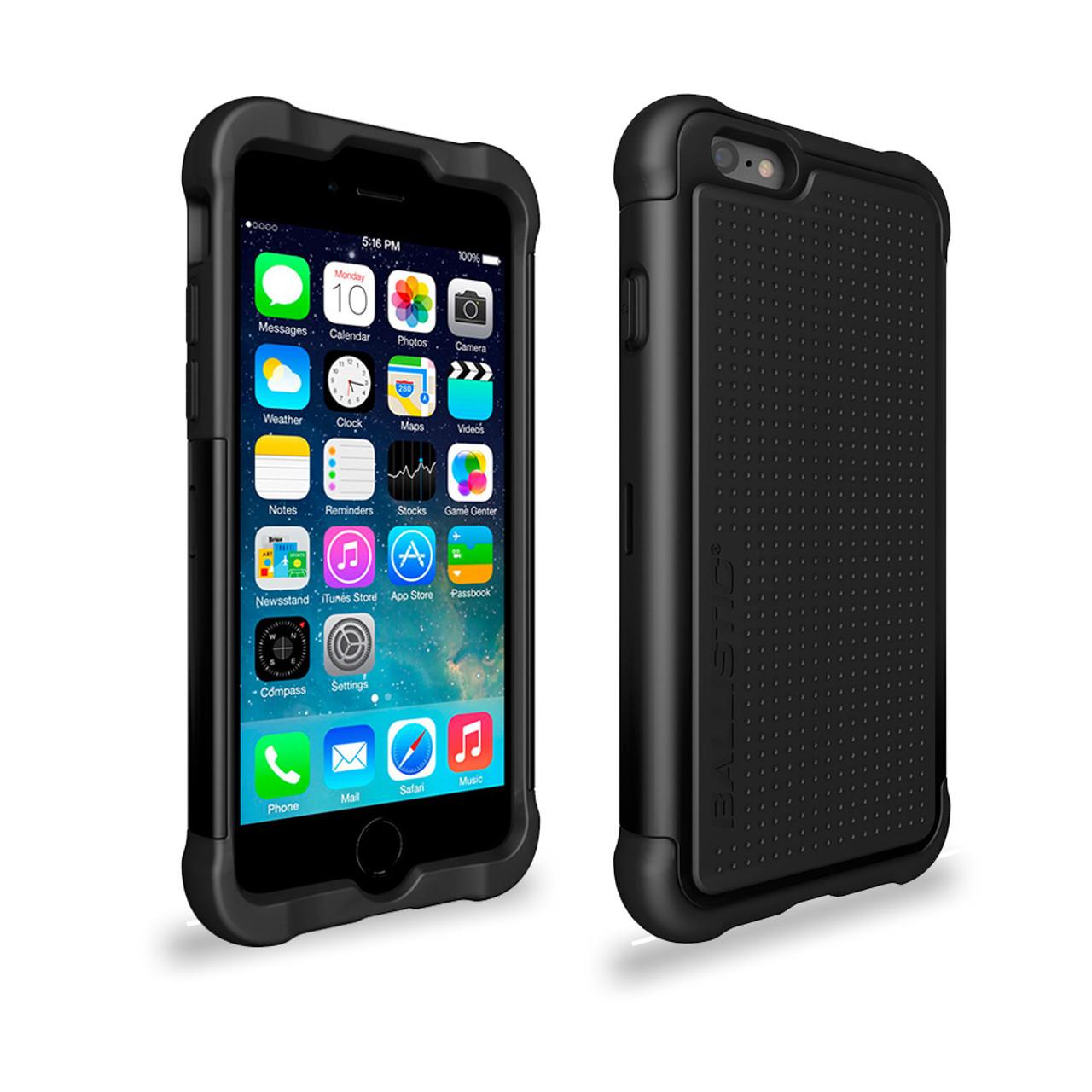 the best attitude a55c3 af3f8 Ballistic Tough Jacket Hybrid Case for iPhone 6 Plus | 6S Plus Black