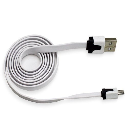 flat lightning cable 3 ft white