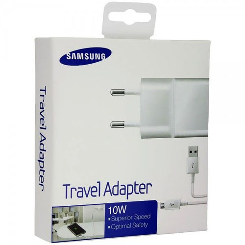 samsung 2.0 amp wall adapter white w- s4 cable retail package