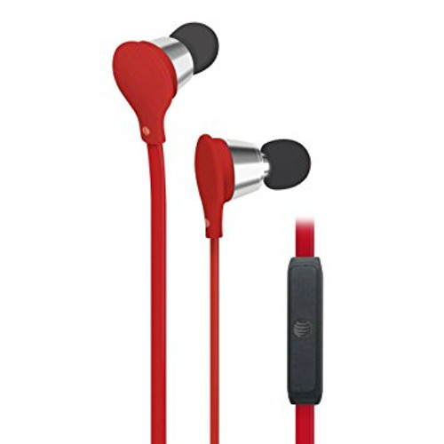 att jive earbuds with mic-vol control red