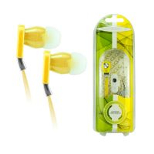 Accents flat cable hands free headset-yellow