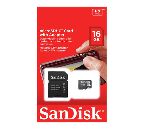 sandisk 16gb class 4 memory card with adapter