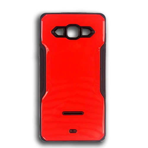 rigid tpu case with plate for iphone 7/8 red-black
