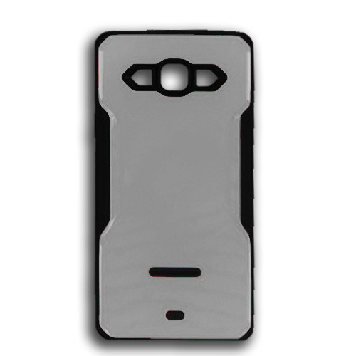 rigid tpu case with plate for iphone 7/8 silver-black