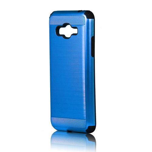 hard pod hybrid case for samsung galaxy j3 blue-black