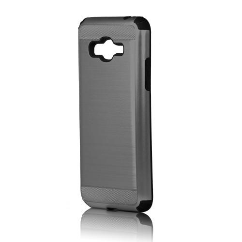 hard pod hybrid case for samsung galaxy j3 titanium-black