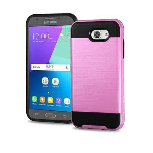 slim jacket hybrid case for samsung galaxy j3 pink-black