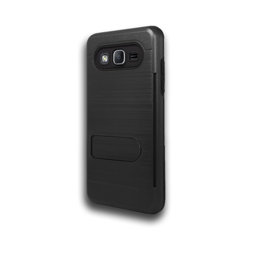 ID Ultrathin Hybrid Case with Kickstand for Samsung Galaxy J5 Black