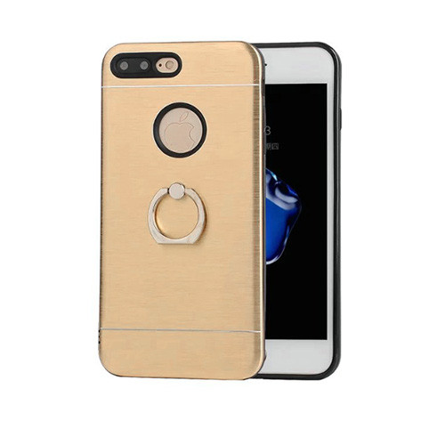 glamour hybrid ring case with kickstand for samsung galaxy j7 gold-black