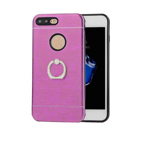 glamour hybrid ring case with kickstand for samsung galaxy j7 violet-black