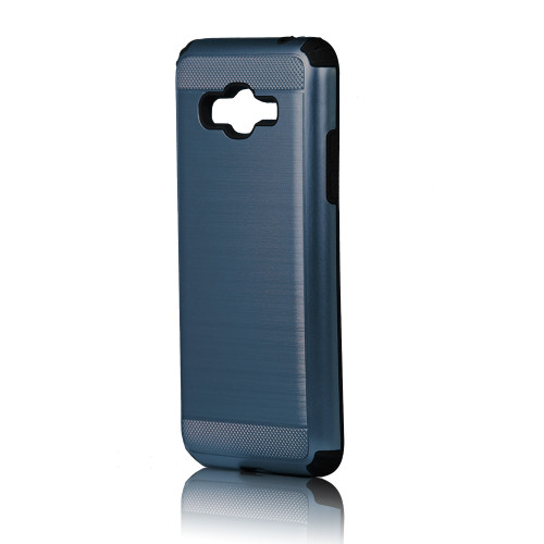hard pod hybrid case for samsung galaxy j7 prime storm blue-black
