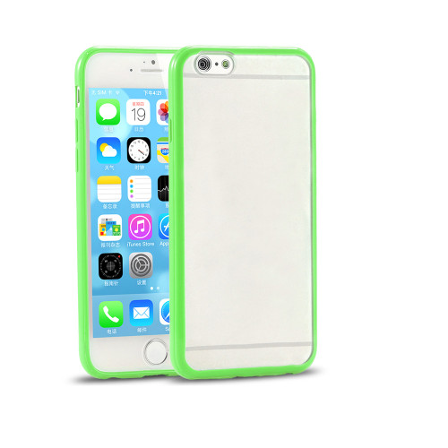 contour hybrid case for samsung galaxy note 5 clear-green