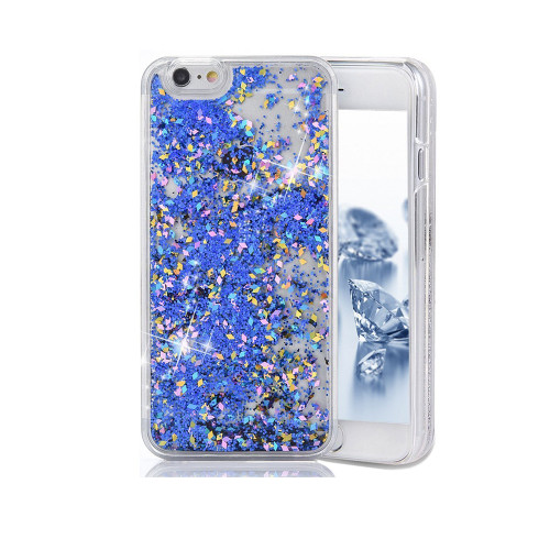 Liquid Glitter Snap On PC Case for Samsung Galaxy Note 5 Blue