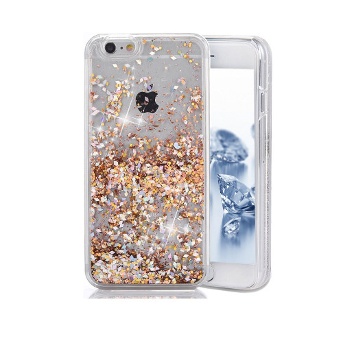 Liquid Glitter Snap On PC Case for Samsung Galaxy Note 5 Gold