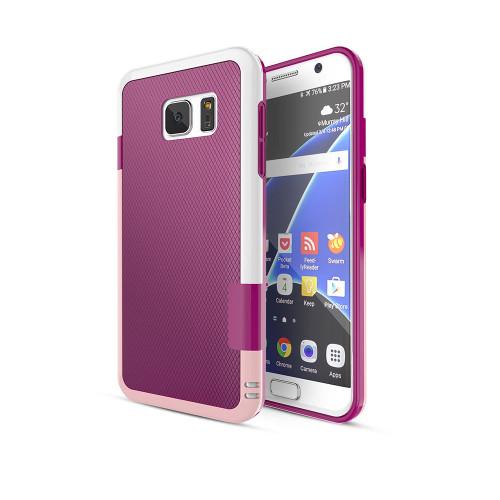 stylish tpu case for samsung galaxy s5 burgundy-pink-white