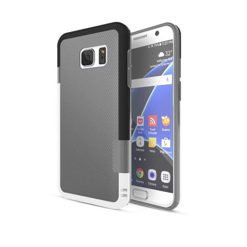 stylish tpu case for samsung galaxy s5 gray-black-white