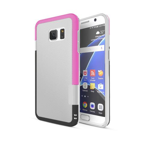 stylish tpu case for samsung galaxy s5 white-hot pink-black
