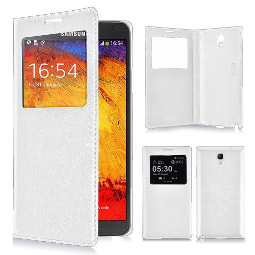 classic s view cover case for samsung galaxy s5 white