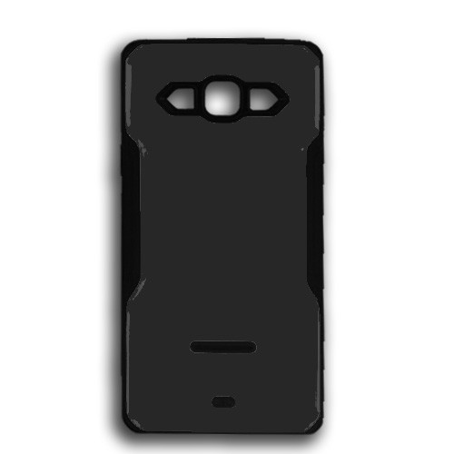 rigid tpu case with plate for samsung galaxy s5 mini black-black