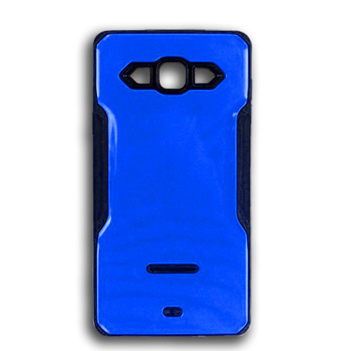 rigid tpu case with plate for samsung galaxy s5 mini blue-black