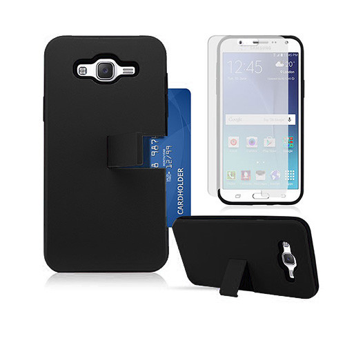 id slim hybrid case with kickstand for samsung galaxy s6 edge black-black