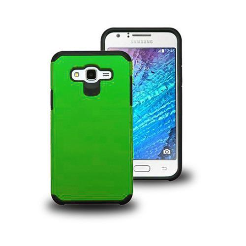 thin shell hybrid case for samsung galaxy s6 edge plus green-black