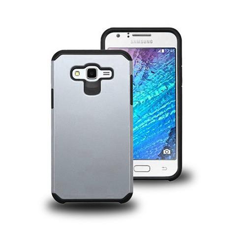 thin shell hybrid case for samsung galaxy s6 edge plus silver-black