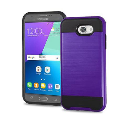 brand new 41752 67f02 slim jacket hybrid case for samsung galaxy s7 edge purple-black