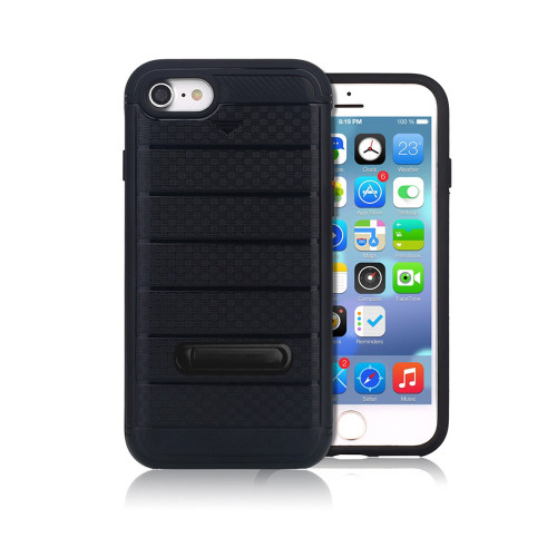 letto hybrid cc case with kickstand for iphone 7/8 plus black