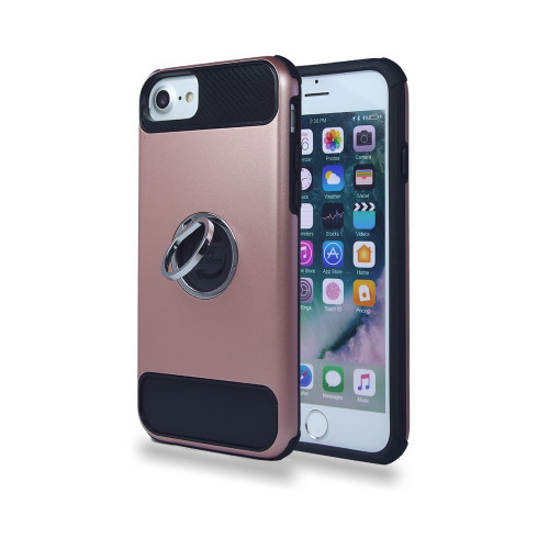 lisse hybrid ring case with kickstand for samsung galaxy s7 rose gold-black