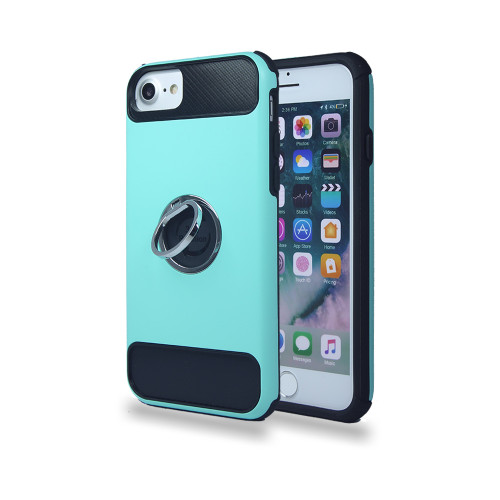 lisse hybrid ring case with kickstand for samsung galaxy s7 mint-black
