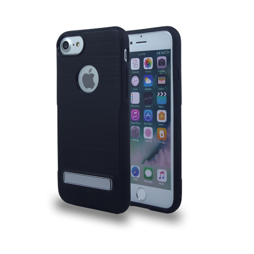 Noskid Skin Case with Kickstand For Samsung Grand Prime G530 and J2 Prime Black